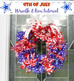 Fourth of July Floral Wreath with Bowdabra Bow Tutorial