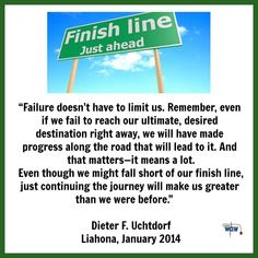 Failure doesn't have to limit us...