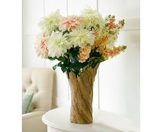 134 best silk flower stems images on pinterest in 2018 drift wood dahlia and stock collection bloom artificial flowers mightylinksfo