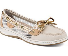 WOMENS SPERRY ANGELFISH ANCHOR PRINT SLIP-ON BOAT SHOES