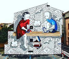 Millo - Pari Dignità, murale Forlì, Murali Street Art Festival, 2018