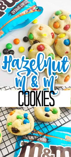 Have you seen the new hazelnut spread M&M's? They are perfect in cookies! Make a batch of these hazelnut M&M cookies and taste for yourself! Basic Cookie Recipe, Basic Cookies, M M Cookies, Sprinkle Cookies, Buttery Cookies, Yummy Cookies, Hazelnut Cookies, Chocolate Hazelnut, Chocolate Cookies