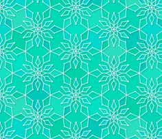 Snowflake fabric by heleenvanbuul on Spoonflower - custom fabric