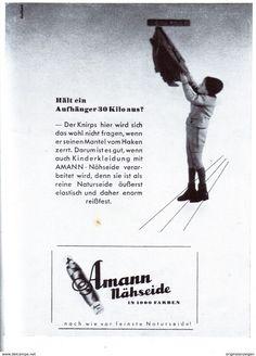 Original-Werbung/ Anzeige 1942 - AMANN NÄHSEIDE - ca. 100 x 130 mm