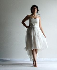 Wedding Dress Hi Low Wedding Dress Reception dress by LoreTree