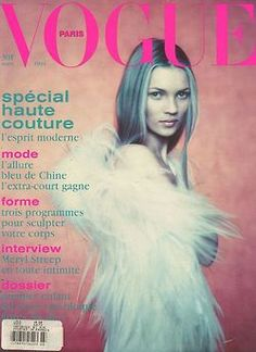 Kate Moss by Paolo Roversi on the cover of Vogue Paris March 1994 Vogue Magazine Covers, Fashion Magazine Cover, Fashion Cover, Vogue Covers, Vogue Paris, Vogue Uk, Vogue China, Vogue Japan, Vogue Russia