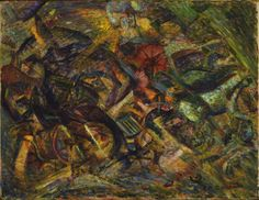 """Jolts of a Cab"" by Carlo Carrà (1911)"