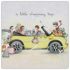 A little shopping trip , Ladies Who Love Life ... Berni Parker funny cute    Berni Parker Designs