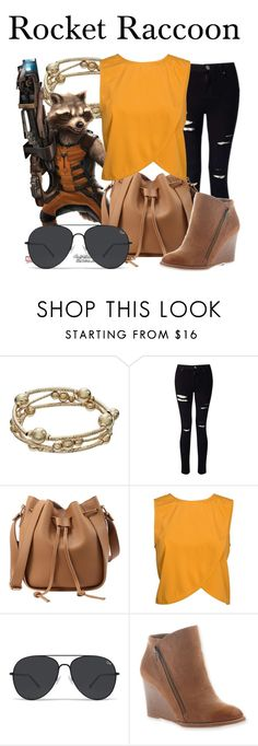 """Rocket Raccoon"" by megan-vanwinkle ❤ liked on Polyvore featuring Apt. 9, Miss Selfridge, NLY Trend and Hokus Pokus"