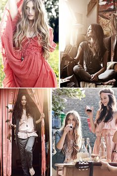 I am rather fond of bohemian styling. What a gorgeous collection. A simple yet beautiful style to put together, layers of material, headbands. Yum!
