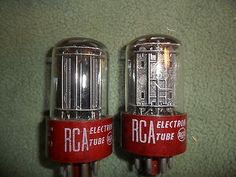 5691 Red Base RCA 3 mica Audio tube Matched Pair