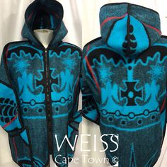 African BASOTHO Blanket re-envisioned as a Hoodie Jacket  www.etsy.com/shop/weisscapetown Blanket Jacket, Hoodie Jacket, African Traditional Wear, Inspired Outfits, African Dress, Cape Town, African Fashion, Adidas Jacket, Sew