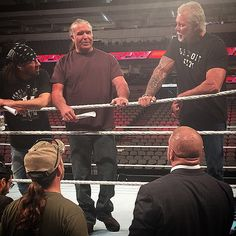 """""""You can't have a #RawReunion without #TheKliq! #ShawnMichaels #XPac @tripleh #KevinNash #ScottHall #WWE #Raw"""""""