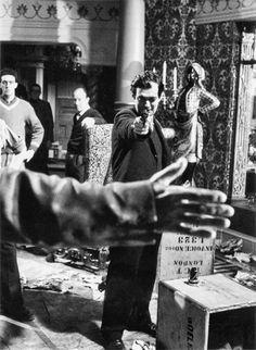 "Stanley Kubrick on the set of ""Lolita"", 1962"