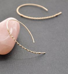 Gold Twisted Hoop Earrings, Modern Gold Wire Hoop, Upside Down Funky Gold Skinny Hoop, + Ruby Earrings, Sterling Silver Earrings Studs, Gold Hoop Earrings, Statement Earrings, Chandelier Earrings, Dangle Earrings, Golden Earrings, Cartilage Earrings, Geode Jewelry
