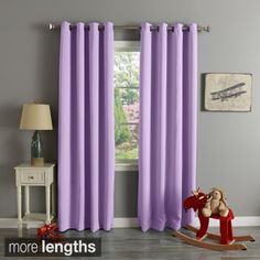 Shop for Aurora Home Grommet Top Thermal Insulated Blackout Curtain Panel Pair. Get free delivery at Overstock.com - Your Online…