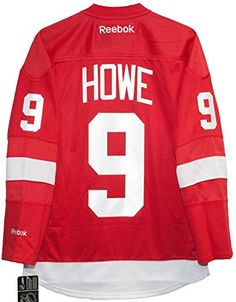 80fe0bc7072 Gordie Howe Detroit Red Wings Home Red Reebok Premier Jersey – Detroit  Sports Outlet
