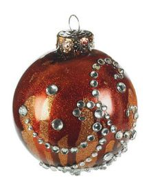 Fall Alcohol Ink & Bling Craft Ornament    Create this beautiful ornament for your tree, wreath or other décor.