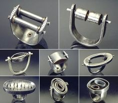 Industrial rings don't often make me feel industri- ous but something about these pieces makes me want to spring into action. They're like...