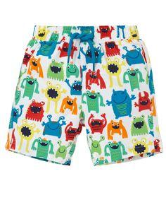 Monster Print Swim Shorts