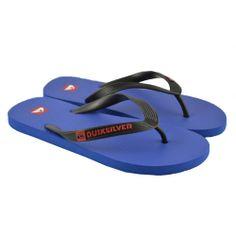 Flip flops planas de entrededo fabricadas con materiales de goma en combinación de dos colores de la marca QUIKSILVER.