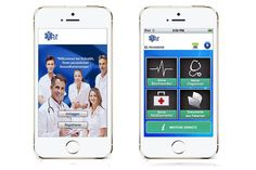 #MedicalApp - Bilingual: Take #pictures and upload them for doctor's to review . - Scan your #medication and activate the memory function. The eGA is of particular interest to : - Chronically ill - Mobile and holiday makers - Young parents - Health conscious The paid #medical advice is booked at any time in Basic , Complete or as a family package and can be paid by the cashier