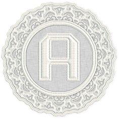 Alfabeto Decorativo: Alfabeto - Rendado 1 - PNG - Letras - Maiúsculas -...