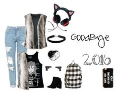 """Bye 2016"" by alice-shadows ❤ liked on Polyvore featuring Topshop, Disney, MANGO, Lands' End, Miss Selfridge and Billabong"