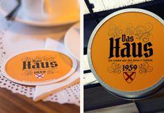 Das Haus | Creación de nombre de marca, diseño y aplicaciones para café Das Haus | Valdivia | 2015