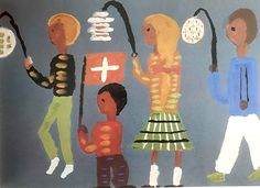 タイトルはスイス建国記念日1970年代にスイスの11歳の少年が描いた作品ですみんな提灯をさげて夜のパレードを行う様子  #kidsart #kidsartwork #art #kidsdrawing #mykids #kidscraft #creativekids #creativeplay #childrensart #toddlerart #pretendplay #learningthroughplay #kidsactivities #childrensdesign #子供の絵 #こどもの絵 #子供の落書き #キッズアート #こどもアート #子どもの絵 #息子の絵 #娘の絵 #子供の作品 #娘の作品 #picasokko #子供の絵を残す #アート #子供の絵には成長がつまってる #子供の絵に上手いや下手は無い #swissart
