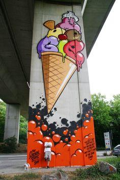 rbs under the motorway bridge near Lörrach. Since I should … – Graffiti World Murals Street Art, Street Art Graffiti, Street Art Love, Graffiti Artwork, Best Street Art, Amazing Street Art, Graffiti Wall, Mural Art, Amazing Art