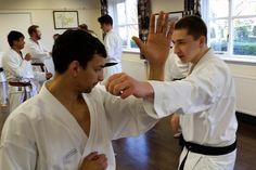 Zanshin karate club, training at Hilton Village Hall. 14/04/15