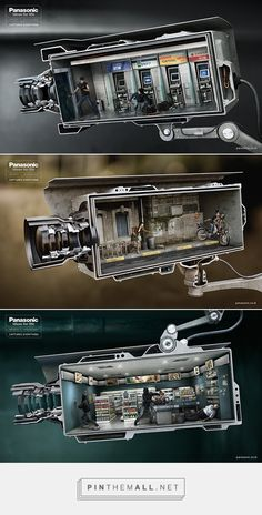 Panasonic CCTV on Behance - created via http://pinthemall.net
