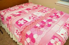 This is a great quilt for a girls room. Whether you are transitioning your toddler to a twin size bed or your teenage girly girl.    Want
