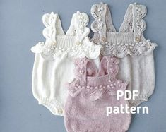 Lacey Romper PDF Knitting Pattern Knitted Baby Playsuit | Etsy Baby Romper Pattern Free, Pattern Shorts, Baby Patterns, Baby Knitting Patterns Free Newborn, Free Knitting, Baby All In One, Chevron, Bonnet Pattern, Baby Girl Accessories