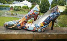 Superman comic book shoes