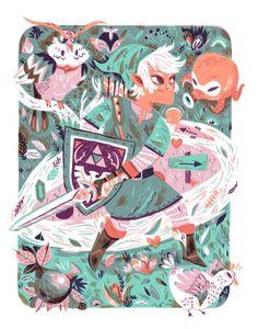 I do love me some Ocarina of Time....Limited edition Zelda print by Meg Hunt