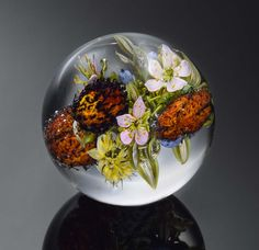 Paul Stankard orbs-flowers-prickly-fruit