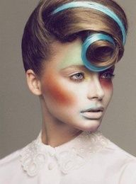 Avant garde hairstyle: must learn how to do this.