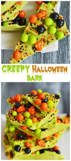 10 Minute Creepy Halloween Candy Bark Halloween might not be for a while, but I have been cooking up some creepy creations lately for my kiddos! We love to partake in the spooky Halloween season by creating fun and colorful Halloween themed sweet treats. This10 Minute Creepy Halloween Candy Bark was a breeze because I actually had some fresh Halloween candies from SweetWorks on hand from a project I had done earlier in the year. I love making candy barks because they are so darn easy and…