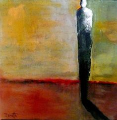 """""""Gathering Some Courage,"""" Acrylic and Combined Media on Stretched Canvas"""