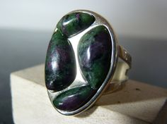 HOLIDAY SALE Vintage Silver Chunky Green by FourSailAccessories, $36.00