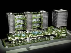 Vertical Gardens, future, architecture, futuristic, green future, building, Singapore, Parkroyal, Pickering, WOHA, Green Mark Platinum Score, eco