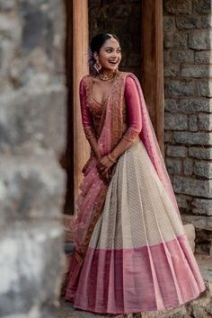 Lehenga Saree Design, Half Saree Lehenga, Lehnga Dress, Lehenga Designs, Silk Lehenga, Gown Dress, Designer Party Wear Dresses, Indian Designer Outfits, Bridal Lehenga Collection