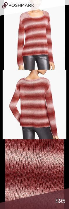 """🆕 Alice + Olivia Ethan boxy ombré sweater - Scoop neck - Long sleeves - Allover pattern - Imported Fiber Content 75% cotton, 25% rayon Care Dry clean True to size Underarm across 20"""". Length 25"""". Brand new with tag. Retail price $248. Alice + Olivia Sweaters Crew & Scoop Necks"""