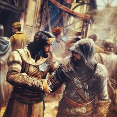 Yusuf Tazim leader of Ottoman Brotherhood and mentor Ezio Auditore at İstanbul streets
