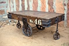 01 Mary Rose Industrial Cart Table from Little Tree Furniture From Trash to Treasure: 10 Upcycled Coffee Tables
