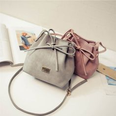 d1283cac59 women Bags 2016 spring and summer bow drawstring bucket bag small cross  body bag fashion trend. Click visit to buy