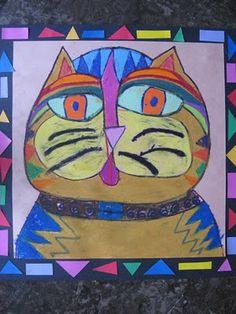 Laurel Burch Cat Faces