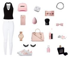 """""""simply blushed"""" by ivylovesyou143 on Polyvore featuring Miss Selfridge, adidas Originals, Michael Kors, New Look, PhunkeeTree, Essie, NARS Cosmetics, MAC Cosmetics, Christian Dior and Chanel"""